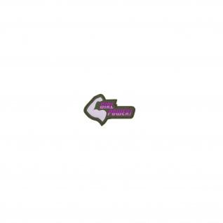 Girl Power Patch Airsoft Alfashirt 3D PVC Aufnäher Rosa Pink Frau 5x8 cm #26743