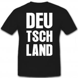 DEUTSCHLAND FAN WELTMEISTER Fußball Fan Nationalmannschaft Finale T Shirt #12641