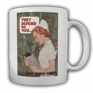 US Army Nurse Corps Tasse Kaffebecher Job Militär Soldaten Plakat #22765