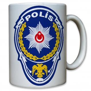 Wappen der Türkischen Polizei - Tasse Kaffee Becher #12583
