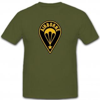 Airborne Wappen Emblem T Shirt #2933