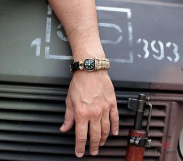 "Paracord Kompass Survival Armband oliv Größe L 9"" (Länge = 23cm) Schmuck #13406 - Vorschau 3"
