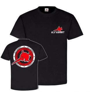 Alfashirt Nordmann Style Firma Marke Logo Schwertfisch Militär T-Shirt #19614