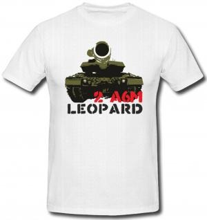 2 A6M Panzer Bundeswehr Leopard 2 Geschütz Militär WK - T Shirt #367