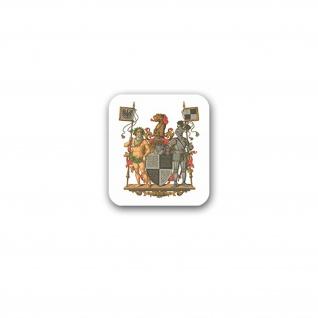 Aufkleber/Sticker Hohenzollernsche Lande Preußische Provinz Wappen 6x7cm A3195