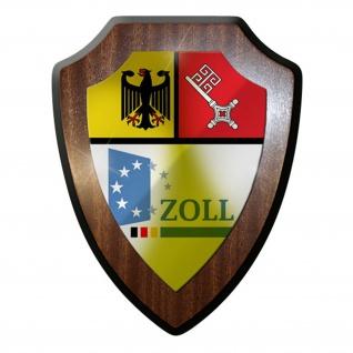 Wappenschild -Zoll Bremen Zollfahnung Amt Wappen Abzeichen Emblem #12722