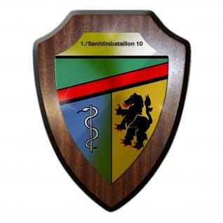 Wappenschild 1 Sanitätsbataillon 10 SanBtl Militär Einheit Esslingen #19437