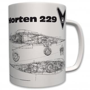 Horten 229 Nurflügler Luftwaffe H IX stealth bomber Flugzeug LW - Tasse #6230
