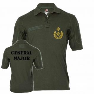 Tactical Poloshirt Alfa - Generalmajor Dienstgrad Abzeichen Truppendienst #19110