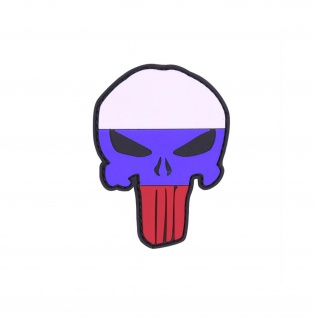 Patch Punisher Flagge Russland 3D Rubber Russia Landeswappen Flagge 8x5cm #23275