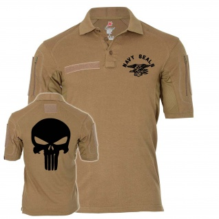 Tactical Poloshirt Navy Seals Punisher TYP 2 Infidel Sniper#24972