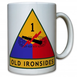 Old Ironsides 1st US Armed Division Army Panzer USA Amerika - Tasse Becher #9394