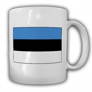 Estland Fahne Flagge Eesti Vabariik - Tasse Becher Kaffee #13472