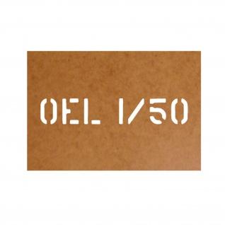 Öl 1-50 Öel Gemisch Zweitakt Motorrad Ölkarton Lackierschablone 2, 5x14 #15768