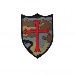 3D Rubber Crusader Woodland Tarn Patch Infidel Aufnäher Alfashirt 6 x 9 cm#26993