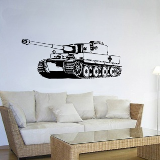 Wandtattoo Tiger Panzer 2 Sonderkraftfahrzeug BW Einheit Fahrzeug 45x120cm#A1896