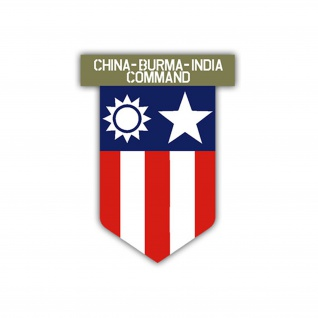 Aufkleber/Sticker China Burma India Command US Army USA Amerika 7x5cm A1102