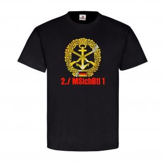 2 Kompanie MSichBtl 1 Bundeswehr Marinesicherungsbataillon - T Shirt #11028