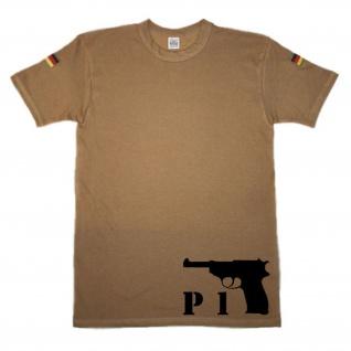BW Tropen P 1 Pistole P 38 Handfeuerwaffe Gun_original Tropenshirt #14653