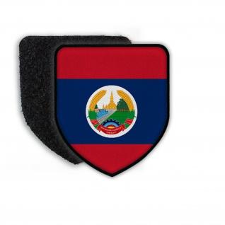 Patch Flag of Laos Wappen Land Zeichen Staat Landesflagge Aufnäher#21339