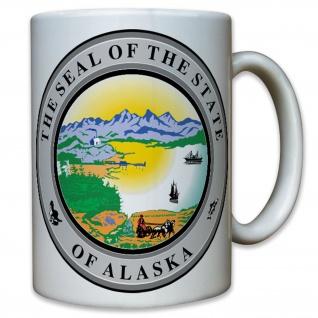 Alaska State Seal Staat Segler Entdecker Eroberer USA Amerika - Tasse #10486 T