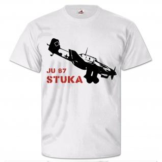 Stuka Ju 87 Luftwaffe Flugzeug Sturzkampf Bomber WK 2 - T Shirt #26403