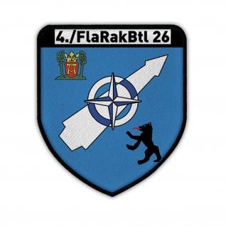Patch - 4 FlaRakBtl 26 Bundeswehr Flugabwehr Einheit Militär Wappen Patch #14038