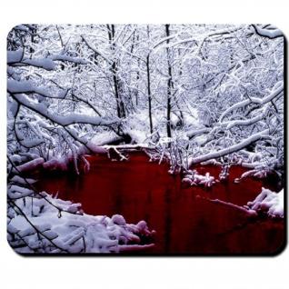 Blut im Winter Horror Splater Gothic Bach Emo Vampir Blutsauger - Mauspad #7945