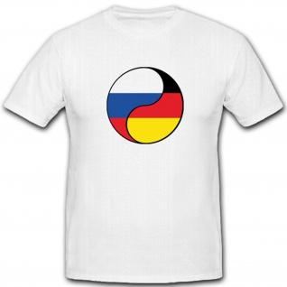 Deutschland Russland Russischer Ying Yang Freundschaft - T Shirt #4359