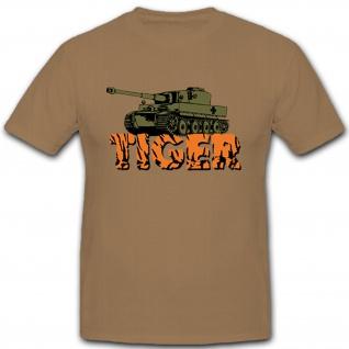 Tiger Panzer Geschütz WW1- T Shirt #8143