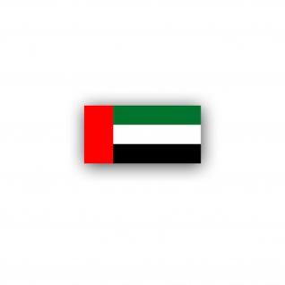 Aufkleber/Sticker Vereinigte Arabische Emirate Flagge Abu Dhabi 7x3, 5cm A3044