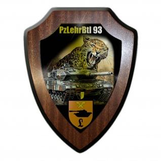 Wappenschild Lukas Wirp PzLehrBtl 93 Munster Bundeswehr Abzeichen Leo #24450