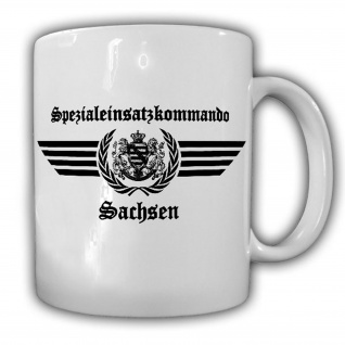 Tasse SEK Sachsen Spezialeinsatzkommando Logo Polizei Auto Sitz Symbol #23681
