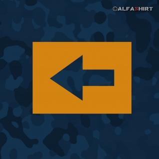 Lackierschablonen Aufkleber Pfeil Wegweiser Militär Richtung Armee 5x3, 5cm A423