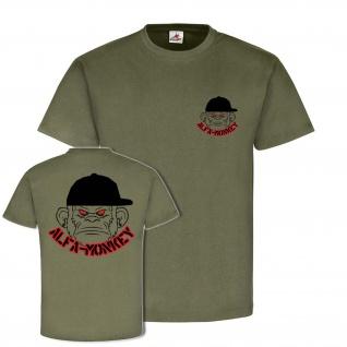 AlfaMonkey Alfashirt Militär Fun Spaß Humor Shirt Syling Fashion T-Shirt #23936