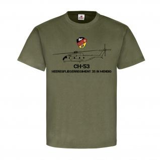 Heeresfliegerregiment 35 Mendig HflgRgt BW Wappen Abzeichen CH53 T-shirt #19510