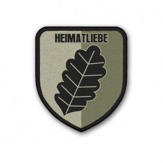 Patch Heimatliebe Klett Patriot Uniform Eichenblatt Laub Tarn Aufnäher #38347