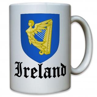 Irland Ireland Iren Königreich König Wappen Emblem Wappen - Tasse #10249