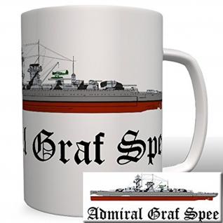 Deutschland Marine Admiral Graf Spee Wk Panzerschiff Militär- Tasse #6493