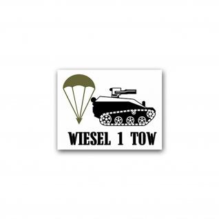 Aufkleber/Sticker Wiesel 1 TOW militärisches Kettenfahrzeug 9x7cm A2060