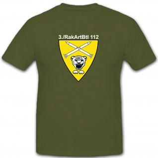 3RakArtBtl112 Bundeswehr Militär Wappen Abzeichen - T Shirt #8144