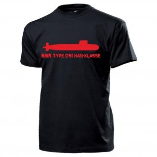 SSN Type 091 HAN Klasse Atom U-Boot Marine - T Shirt #13193