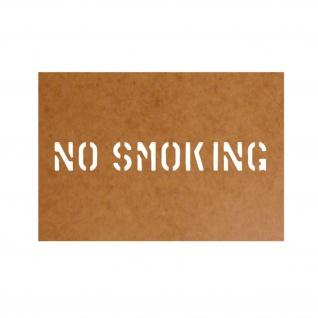 No Smoking Bundeswehr Schablone Ölkarton Lackierschablone 2, 5x18cm #15183