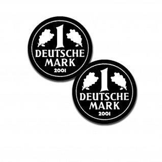 D Mark-Deutsche Mark Deutschland Währung Welt Aufkleber BRD 2x 2, 5cm #A5163