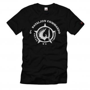 6de Batalion Commando Para Belgien Regiment united we Conquer T Shirt #35173