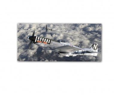 Poster rOEN911 North American P51D June Nite Mustang Jagdflugzeug 30x14cm#30717