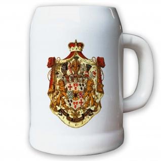 Krug / Bierkrug 0, 5l - Fürstentum Waldeck und Pyrmont Adel Weimarer #9435