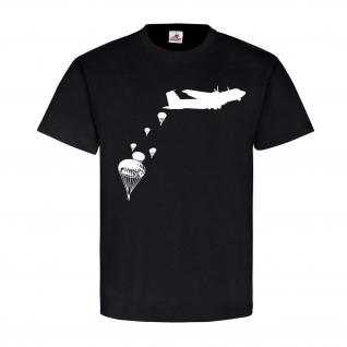 Fallschirmspringer Fallschirm Rundkappe Bundeswehr Militär Heer - T Shirt #8625
