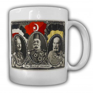 Im Kampf vereint Deutschland Türkei Flagge Kaffeebecher Wappen Militär #22706
