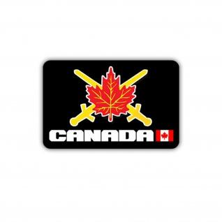 Aufkleber/Sticker Kanadische Armee Militär Abzeichen Ahornblatt 7x5cm A1731